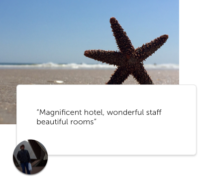 A sample guest photo and quote